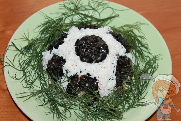 Салат в форме мяча