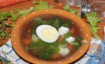 суп из листьев салата