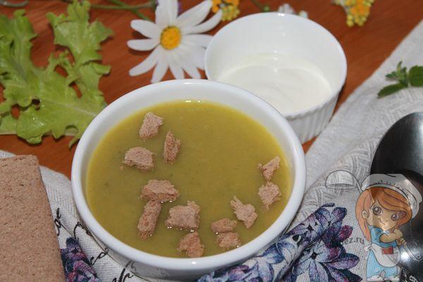 суп пюре из салата листового