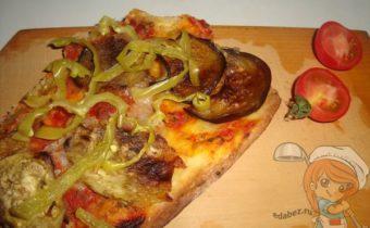 Овощная пицца без дрожжей и мяса