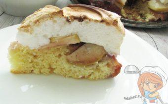 яблочный пирог с меренгой