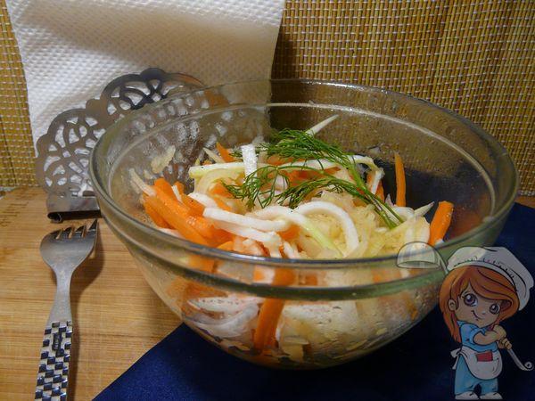 Салат из редьки с морковью рецепт