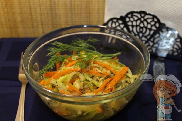 салат из кабачков с морковью