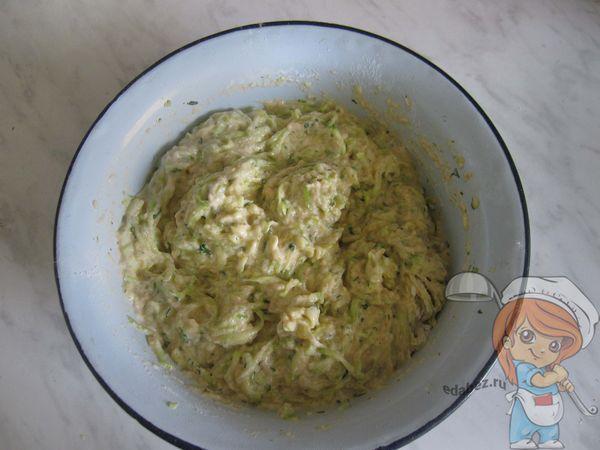 Кабачковое тесто
