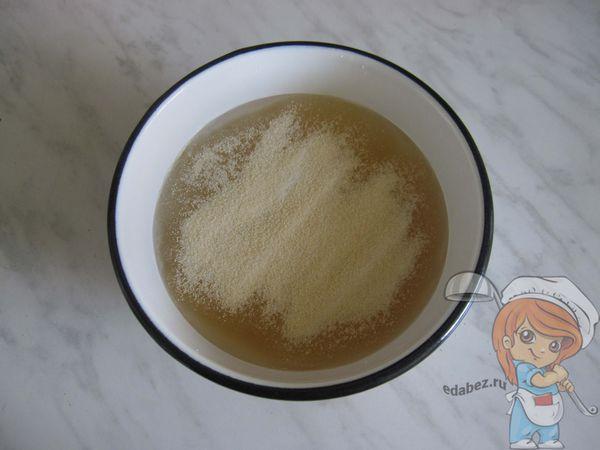 Желатин и сок