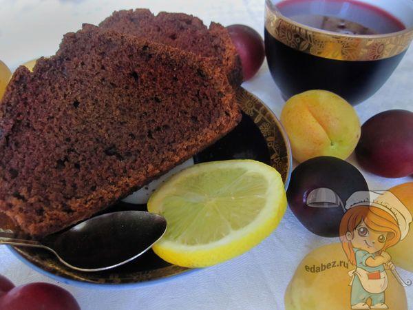 вкусный постный шоколадный кекс