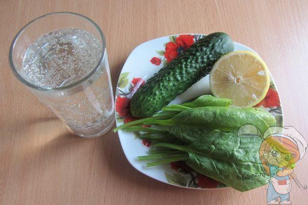 Ингредиенты для зеленого смузи