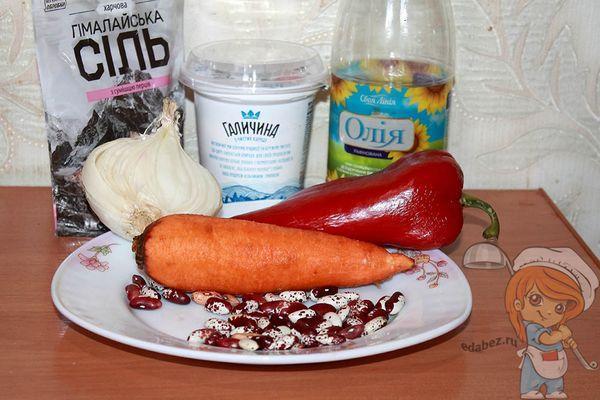 Ингредиенты для салата с фасолью