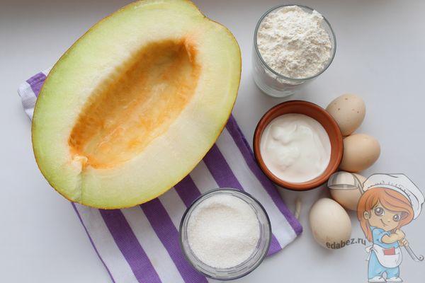 Ингредиенты для шалотки с дыней