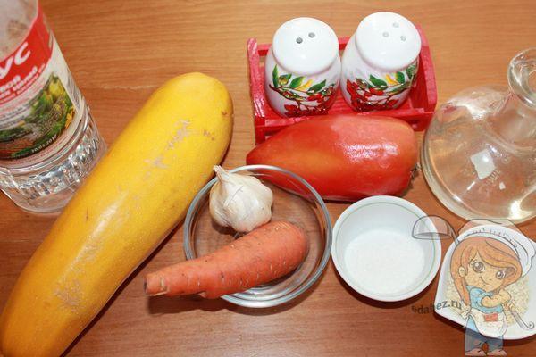 продукты для салата из кабачков