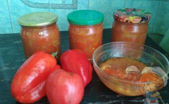 Простое лечо из помидоров и перца