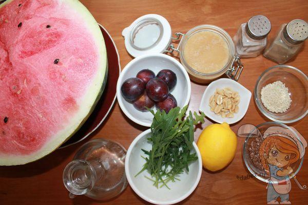 продукты для салата с арбузом