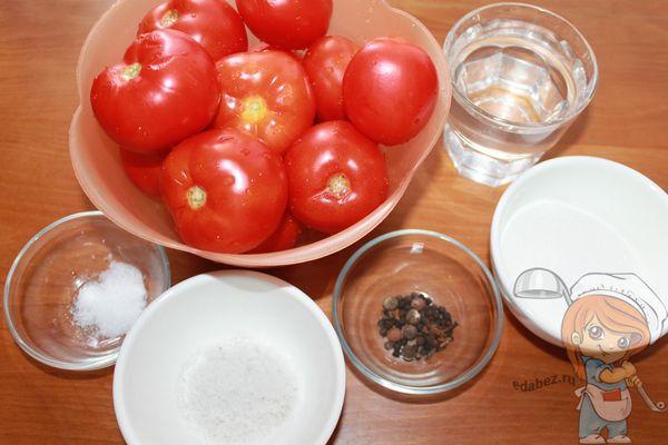 продукты для маринования помидоров