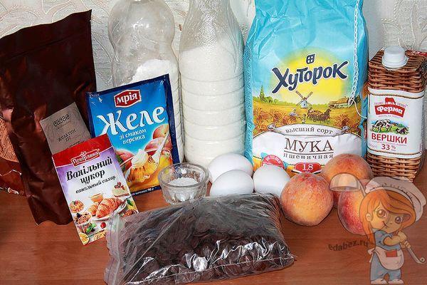 Продукты для бисквитного торта