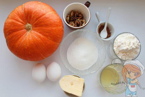 Ингредиенты для приготовления кекса