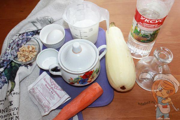 Продукты для кабачковых кексов