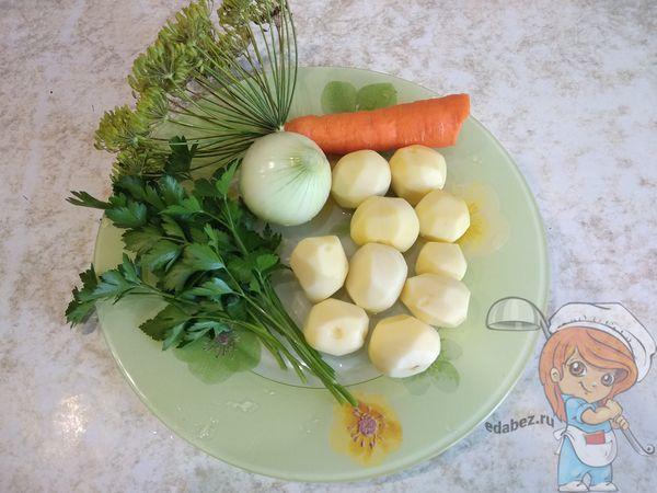 продукты для супа из молодого картофеля