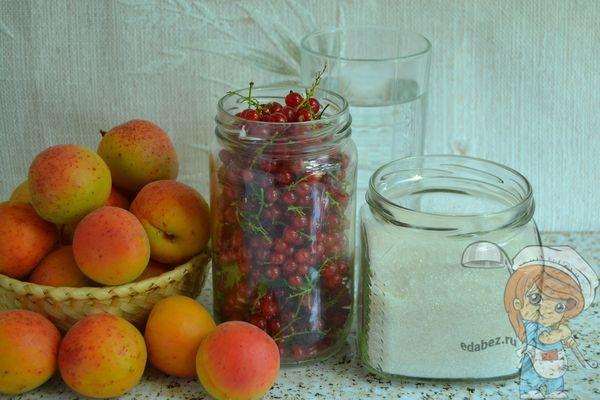 Ингредиенты для заготовки абрикосов в сиропе