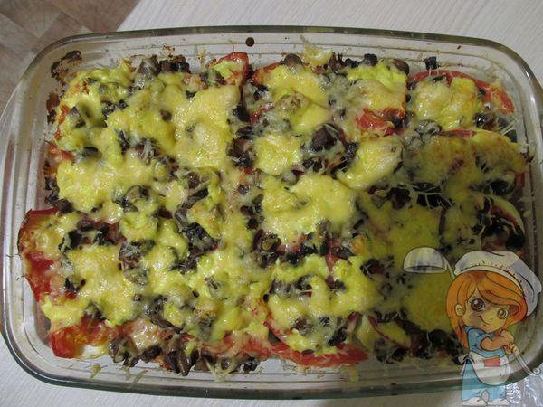 Овощная запеканка с грибами и сыром