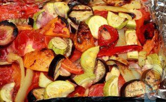 овощи запеченные крупными кусками
