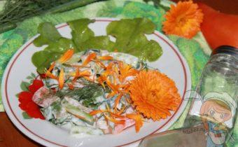 салат с ноготками