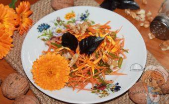 полезный салат с календулой