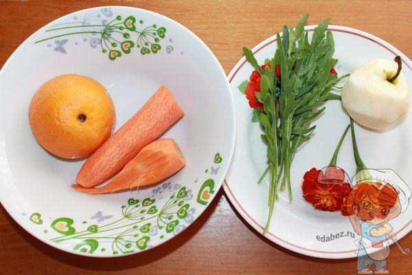 Промываем овощи, цветы и траву