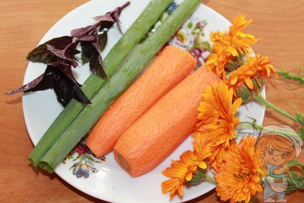 Подготавливаем цветы и овощи
