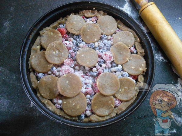 заготовка пирога с имбирем