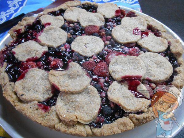 постный пирог с ягодами и имбирем