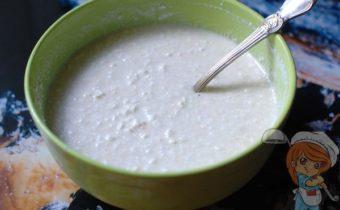 Творожная масса с молоком и яйцом