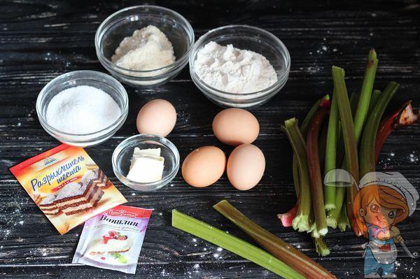 ингредиенты для миндального пирога
