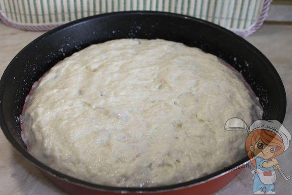 Заготовка пирога без яиц