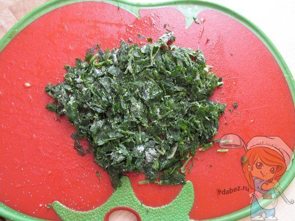 шинкуем зелень