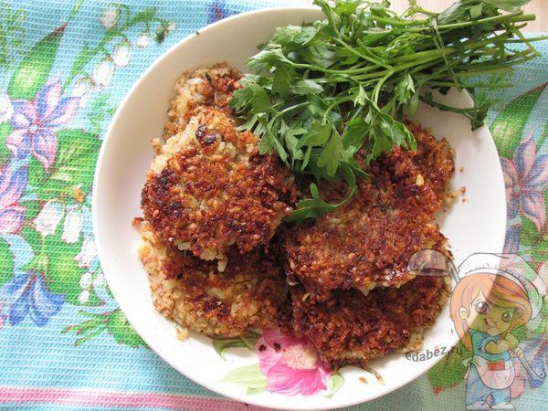 Котлеты из чечевицы с рисом