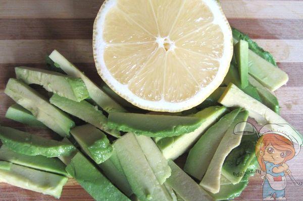 Авокадо брусочками