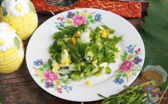 Салат со спорышем