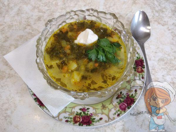 Суп со щавелем и сметаной