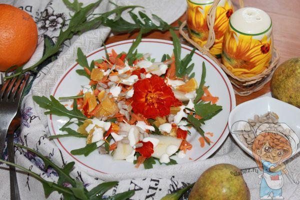 Экзотический салат с фруктами
