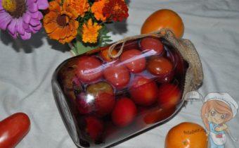помидоры со свеклой на зиму