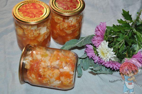Цветная капуста с томатным соусом