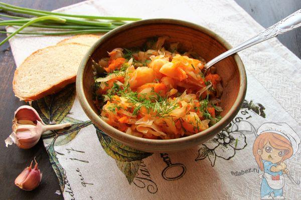 Овощное рагу с капустой и картошкой - рецепт приготовления