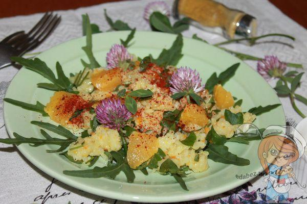 салат с апельсином и клевером