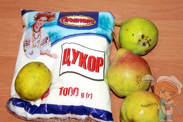 Ингредиенты для варенья из груши