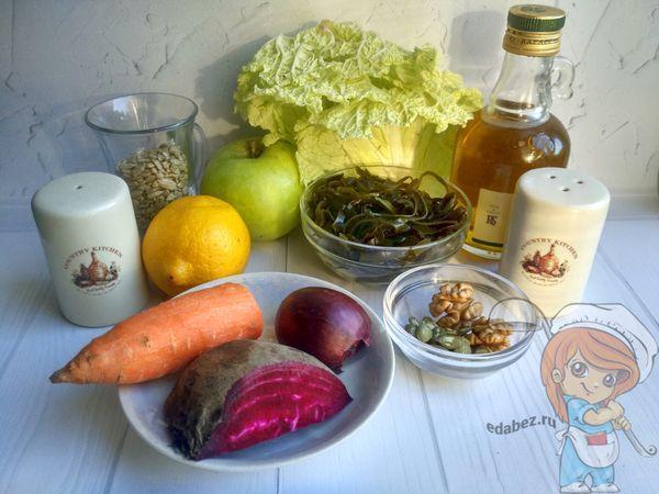 Ингредиенты для селедки под шубой без картошки и селедки