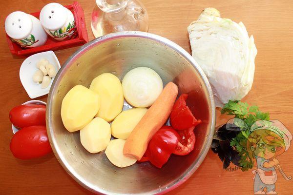 ингредиенты для супа пюре из капусты