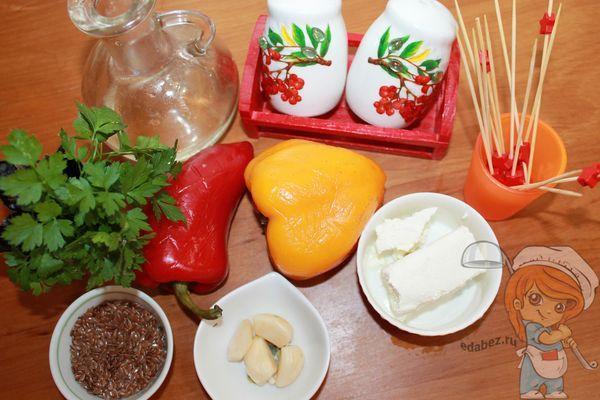 продукты для закуски из перца