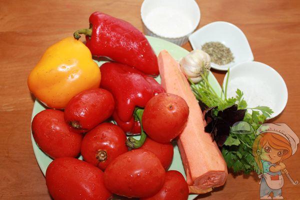 ингредиенты для приготовления сацебели