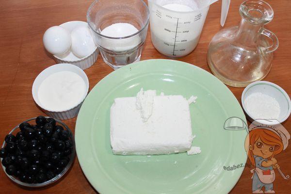 Ингредиенты для пирога с рябиной