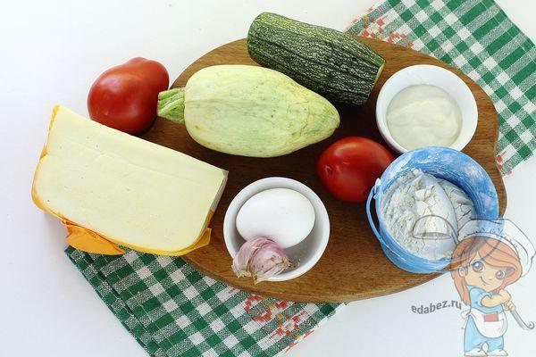 Ингредиенты для приготовления оладушек с сыром